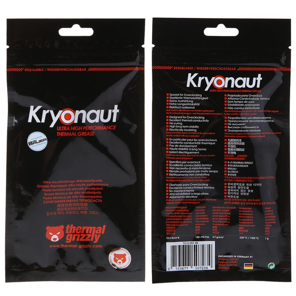 1 g, -200/–350 /°C Thermal Grizzly Kryonaut P/âte thermique 12,5 W//m/·K 1 g