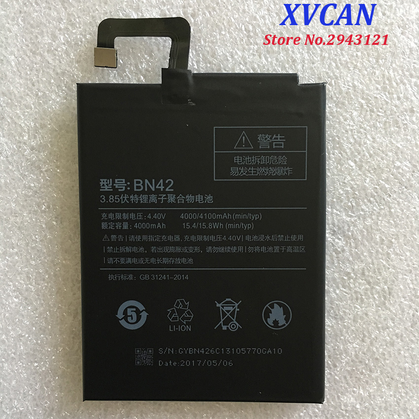 For Xiaomi BN42 4000/4100mAh Battery For Xiaomi Redmi 4 Redmi4 Redrice4 Battery Batterie Bateria Accumulator Smart Phone