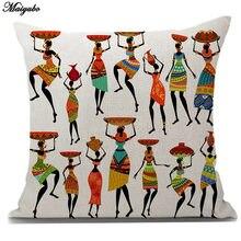 Чехол maiyubo из хлопка и льна в африканском стиле для дивана