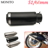 For Z900 ER6N Z800 Z750 Z1000SX CRF 450 CRF XR XL 85 CBR600 Motorcycle SC Exhaust Pipe Scooter Escape Exhaust Muffler Universal