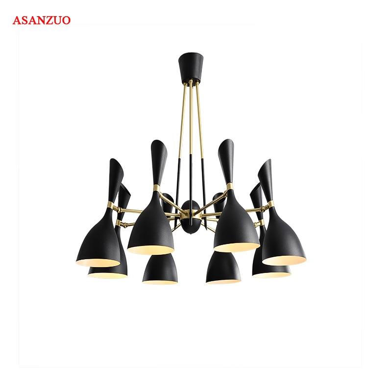 New 2018 Modern Home Nordic 3 6 8 heads Ceiling Lights For Living Room Dining Room E27 LED Ceiling Lamp Lighting fixtures
