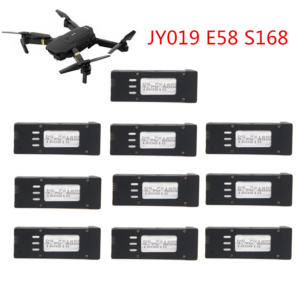 10pcs Original Battery for Eachine E58 JY019 S168 RC Quadcopter Spare Parts DS <font><b>721855</b></font> 3.7V 500mAH Lipo Battery For RC Drone image