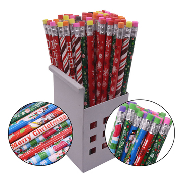 10 Pcs Christmas Pattern 187*8mm Eraser Wood Hb Pencil Color Pen Pole Children Students Painting Sketch Write Student Stationery - discount item  49% OFF Pens, Pencils & Writing Supplies