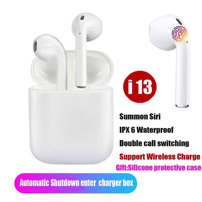 NOUVEAU i13 TWS 1:1 Air Gousses Sans Fil Tactile de Contrôle Écouteurs Bluetooth 5.0 3D Super écouteurs spécis basses PK i11 i12 TWS pour tous les smartphone