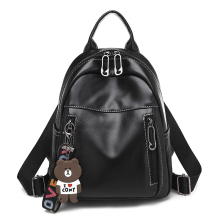 цена на New Fashion Retro PU Leather Women Backpacks small bagpack School Bag for Teenager Girls Feminina Rucksack Travel Bag Mochila