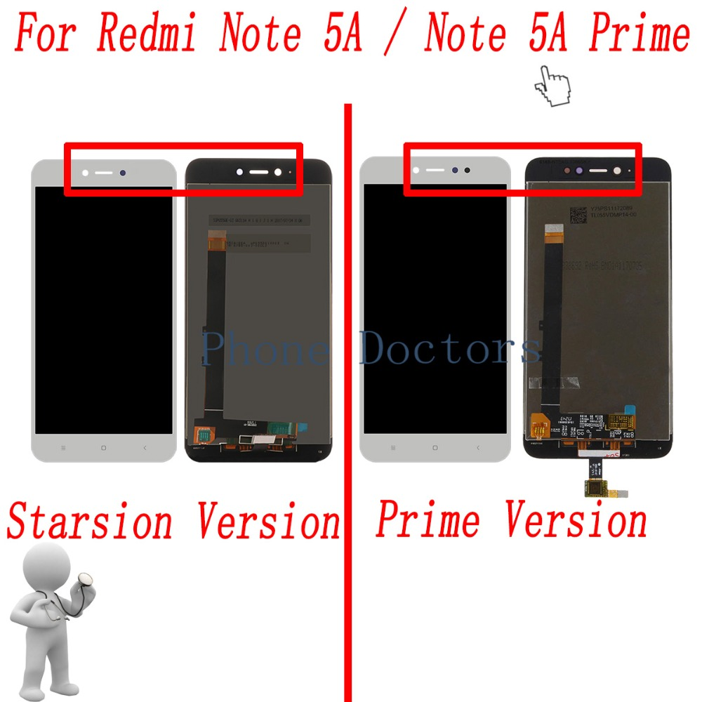 5.5'' Touch Screen Digitizer Glass + LCD Display Assembly For Xiaomi Redmi Note 5A MDG6 / Redmi Note 5A Prime MDG6S
