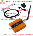 LCD display GSM 900MHz signal repeater cell GSM 900 signal booster with indoor antenna+ yagi antenna+Cable gsm signal amplifier