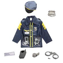 Police Suit For Chlidren's Policeman Cosplay Costume Policeman Costume With Durable Case Police Officer Costume For Kids(China)