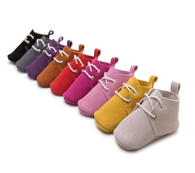 2016 Fashion Genuine Leather Classic Newborn Baby Boy Girls Prewalkers Sports Sneakers Crib Babe Children Soft Soled Shoes Boots