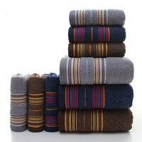 Brief Jacquard Towel Set 3Pcs Set 1 Bath 2 Face Towels 100 Cotton Adult Men