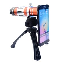 On sale High-end Phone Camera Lenses Kit 18X Optical Telescope Telephoto 4in1 Lens For Samsung iPhone 150X zoom macro lens+Tripod+Case