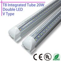 A T8 Integrated Tube 20w 60cm 110v 220v 85 265v Double Led Chip 2835 Transparent Clear
