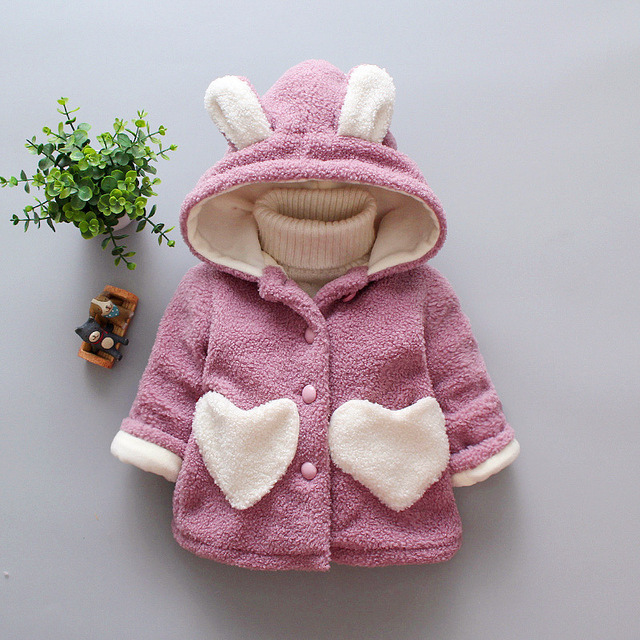 a12cf72e7 BibiCola baby girls winter coats newborn baby thick velvet cartoon ...