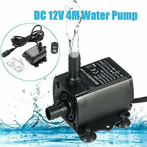 DC12V High Flow Water Pump Submersible Pump Flow Rate Mini Ultra-Quiet Brushless Motor 10W 400L/H  Camper Caravan Motorhome Boat