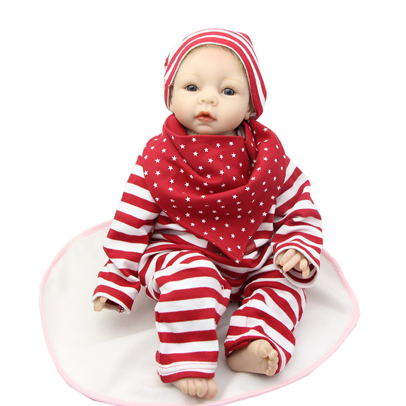 NPK Collection 22IN/55cm Reborn Girl Dolls Real Lifelike Soft Silicone Newborn Baby Doll For Children Christmas Birthday Gift hot sale 2016 npk 22 inch reborn baby doll lovely soft silicone newborn girl dolls as birthday christmas gifts free pacifier