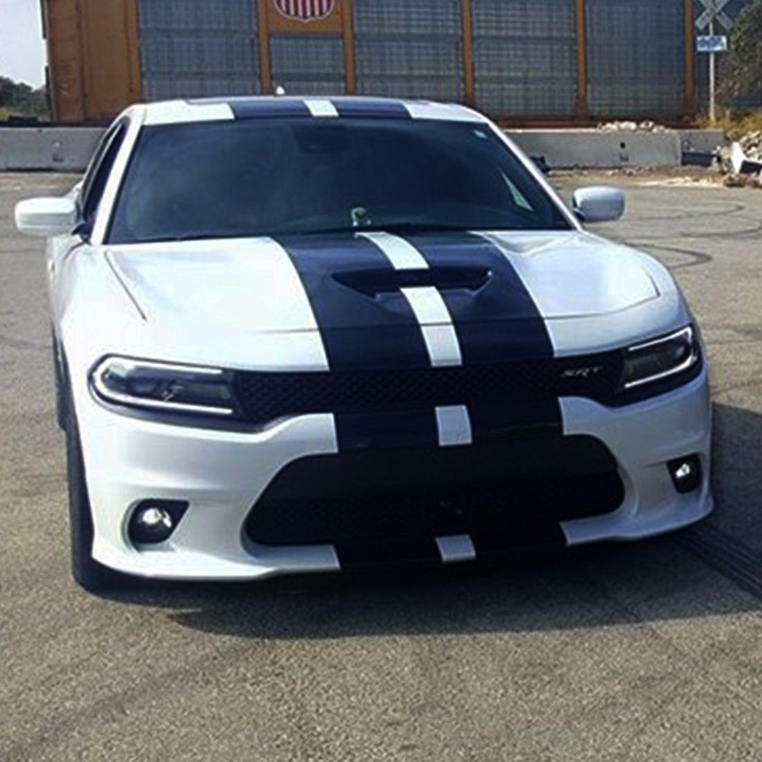 Detail feedback questions about for sticker decal stripes kit for dodge charger srt wing skirt headlight lip lamp car styling for hood roof truck on