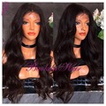 synthetic lace front wig salomon Brazilian wavy Hair wigs Black Heat Resistant synthetic Lace Front Wigs for Black Women