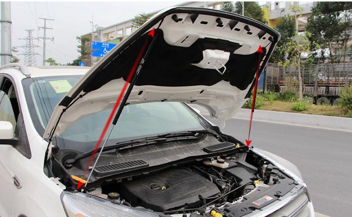 Pour Ford Kuga 2017 2018 Refit voiture capot avant capot moteur tige hydraulique jambe de force ressort barre de choc voiture style