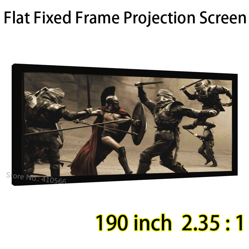 Big Front Projection Screen 190inch 2.35x1 Ratio Fixed Frame Screens High Gain Fabric Can Be Customized Size настенные часы русалочка