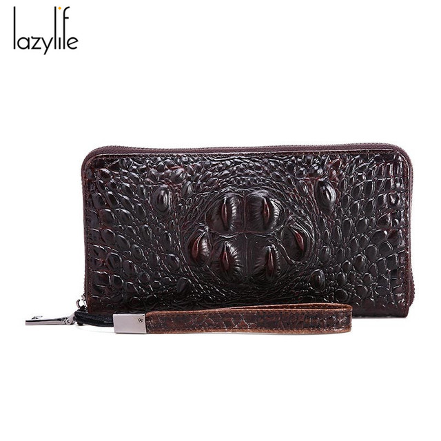 LAZYLIFE 3D Women Wallets Alligators Genuine Leather Money Female Wallet Brand Designers New Long Bag Ladies Clutch Coin Purses