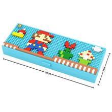 LOZ Mary pencil case blocks pokemon go Blocks educational toys Pikachu Charmander Bulbasaur Squirtle Mewtwo anime Toys