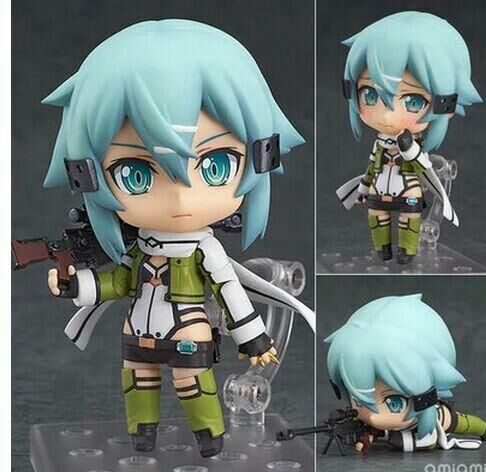 Anime Sword Art Online Nendoroid 452 Sinon Asada Sao Juguetes PVC Action Figure Collection Model Kids Toys Doll Brinquedos 10CM