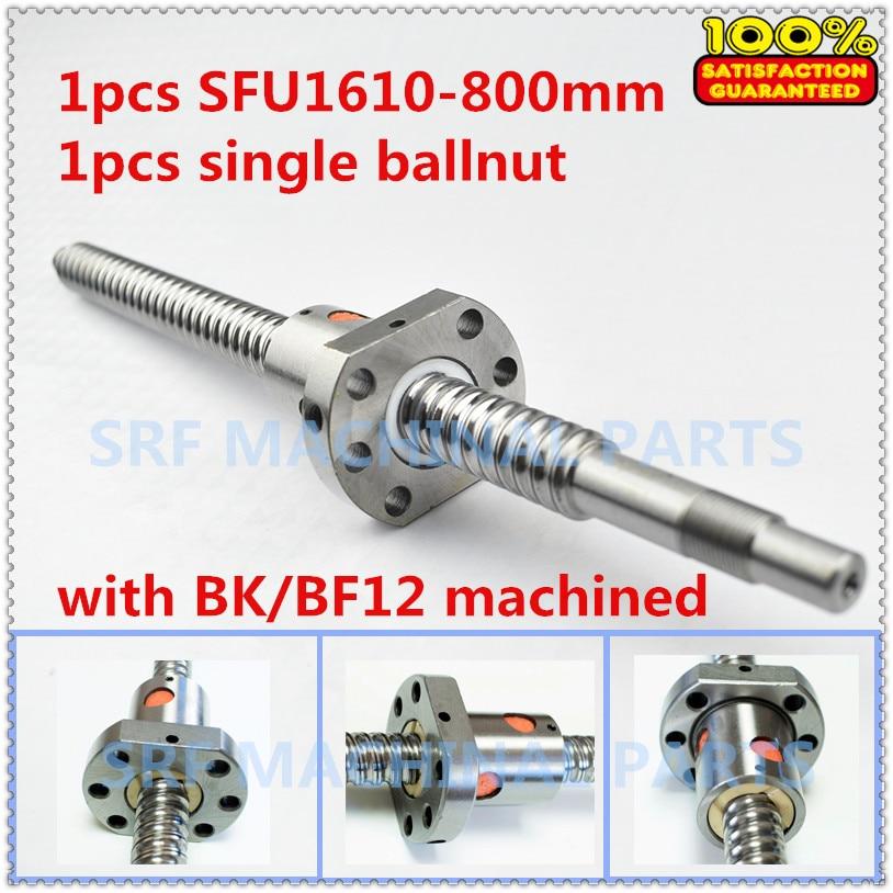 1pcs 16mm diameter Lead=10mm  SFU1610 Rolled Ballscrew  L=800 with SFU1610 ball nut  for CNC part ballscrew sfu1610 l200mm ball screws with ballnut diameter 16mm lead 10mm