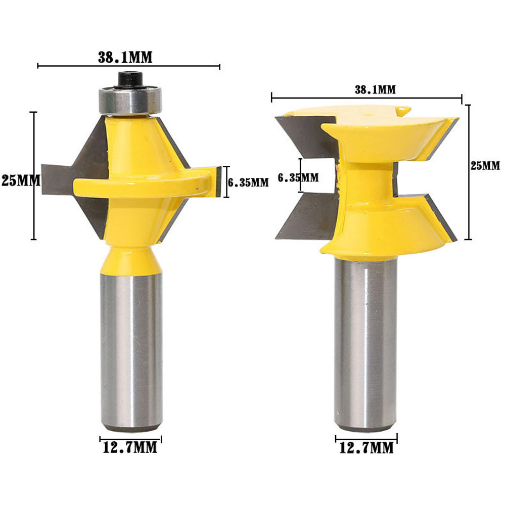 120 Degree Lock Router Bit Woodworking 1/2 Shank Frame Tenon Stitching Milling Cutter Tool Groove Chisel Engraving Machine 1pc 1 2 5 5 20 straight double edged cutter alloy milling cutter woodworking cnc engraving machine cutter slotted 1 2 shank