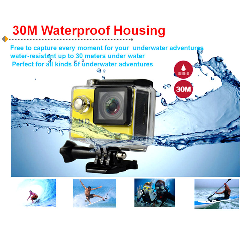 Ultra HD WiFi 4 K 1080 P Mini Macchina Fotografica di Azione Impermeabile Sport Cam casco Go Pro Stile Per Xiao Mi Yi Water Resistant Camcorder - 2