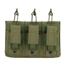 ใหม่ 1000D ไนลอนทหาร Paintball อุปกรณ์ยุทธวิธีสามเปิดนิตยสารกระเป๋า Fast AK M4 Famas กระเป๋า