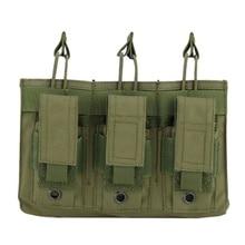 Новая 1000D нейлоновая Военная Пейнтбольная Экипировка, тактическая три открытых топа сумка для журнала, быстрая AK M4 Famas сумка для хранения