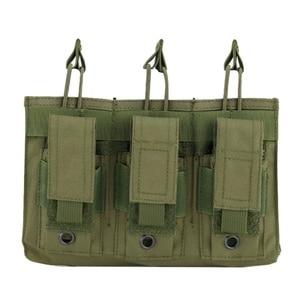 Image 1 - Новая 1000D нейлоновая Военная Пейнтбольная Экипировка, тактическая три открытых топа сумка для журнала, быстрая AK M4 Famas сумка для хранения