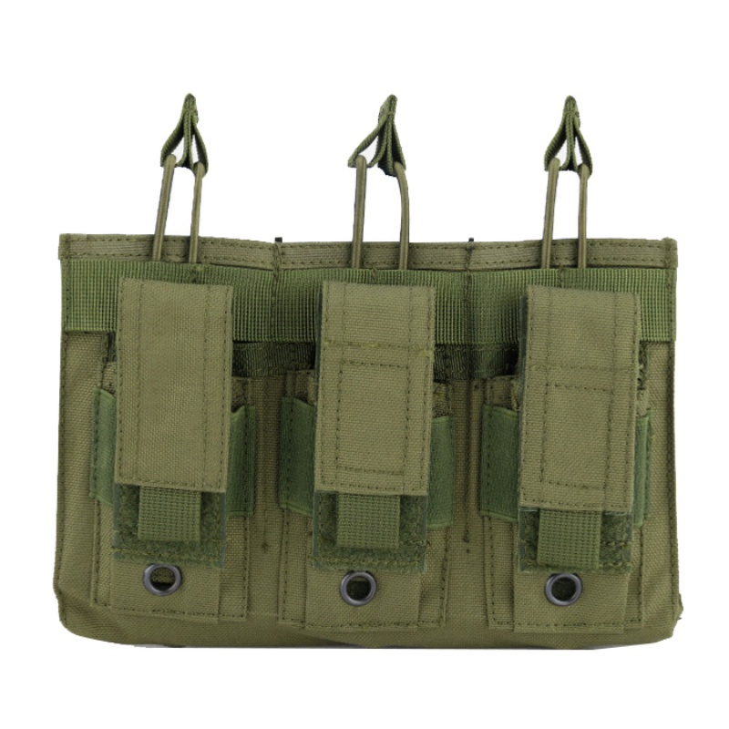 New 1000D Nylon Military Paintball Equipment Tactical Three Open Top Magazine Bag Fast AK M4 Famas Storage Bag-in Pouches from Sports & Entertainment