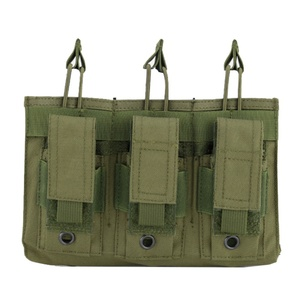 Image 1 - Nowy 1000D Nylon wojskowy Paintball sprzęt taktyczny trzy otwarte Top magazyn damska torba szybka AK M4 Famas worek do przechowywania
