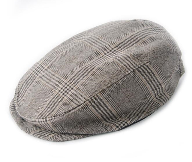 Autumn Baby Boy Hats Striped Beret Newborn Photography Props Spring Gentleman Baby Plaid Cap Photo Props 0-2 Years