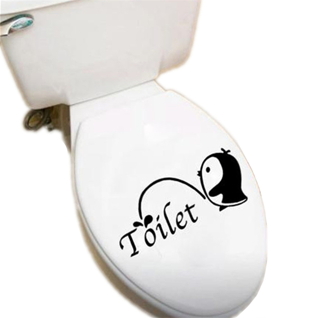 Penguin Toilet Sticker