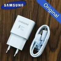 Samsung Зарядное устройство оригинальное адаптивной адаптер быстрой зарядки для samsung Galaxy a8 a6 a5 Note 4 5 J3 J5 2017 J7 S6 S7 край S4 QC 3,0 адаптер для розеток ев...