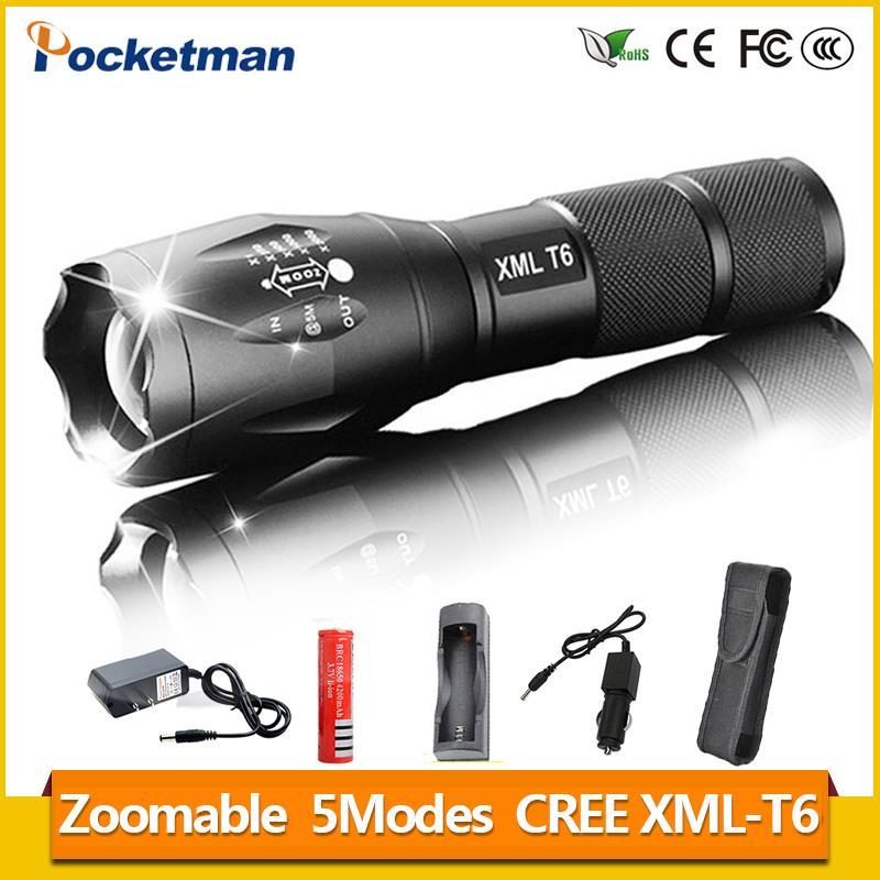 Lanterna lampe de Poche XM-T6 3800lm LED Torche Zoomables Linternas LED lampe de Poche Tactique lampe de poche Pour 3 3xaaa ou 1x18650 z93