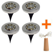 Solar lights decking promotion shop for promotional solar lights 2018 new high quality 4pcs 8led solar power buried light under ground lamp outdoor path garden decking lighting drop shipping aloadofball Choice Image
