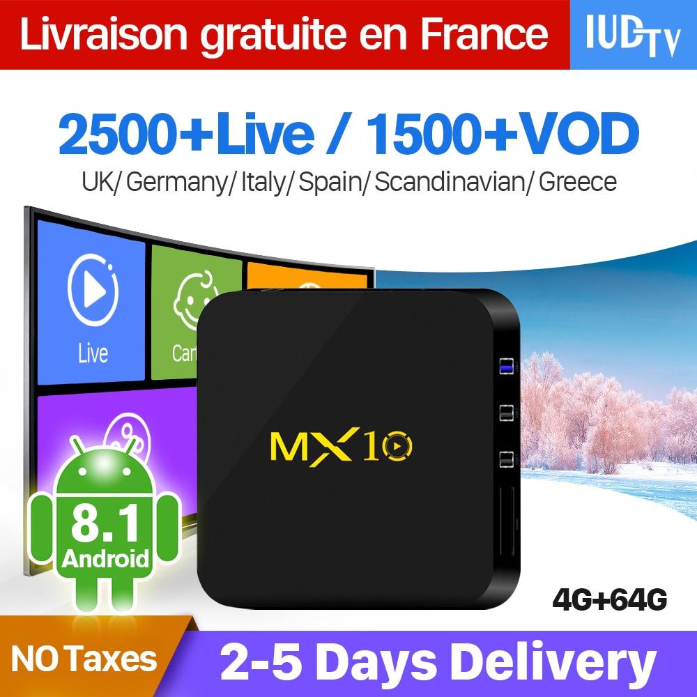 IPTV France Box MX10 Android 8.1 RK3328 1 il QHDTV IUDTV SUBTV kodu - Evdə audio və video - Fotoqrafiya 2