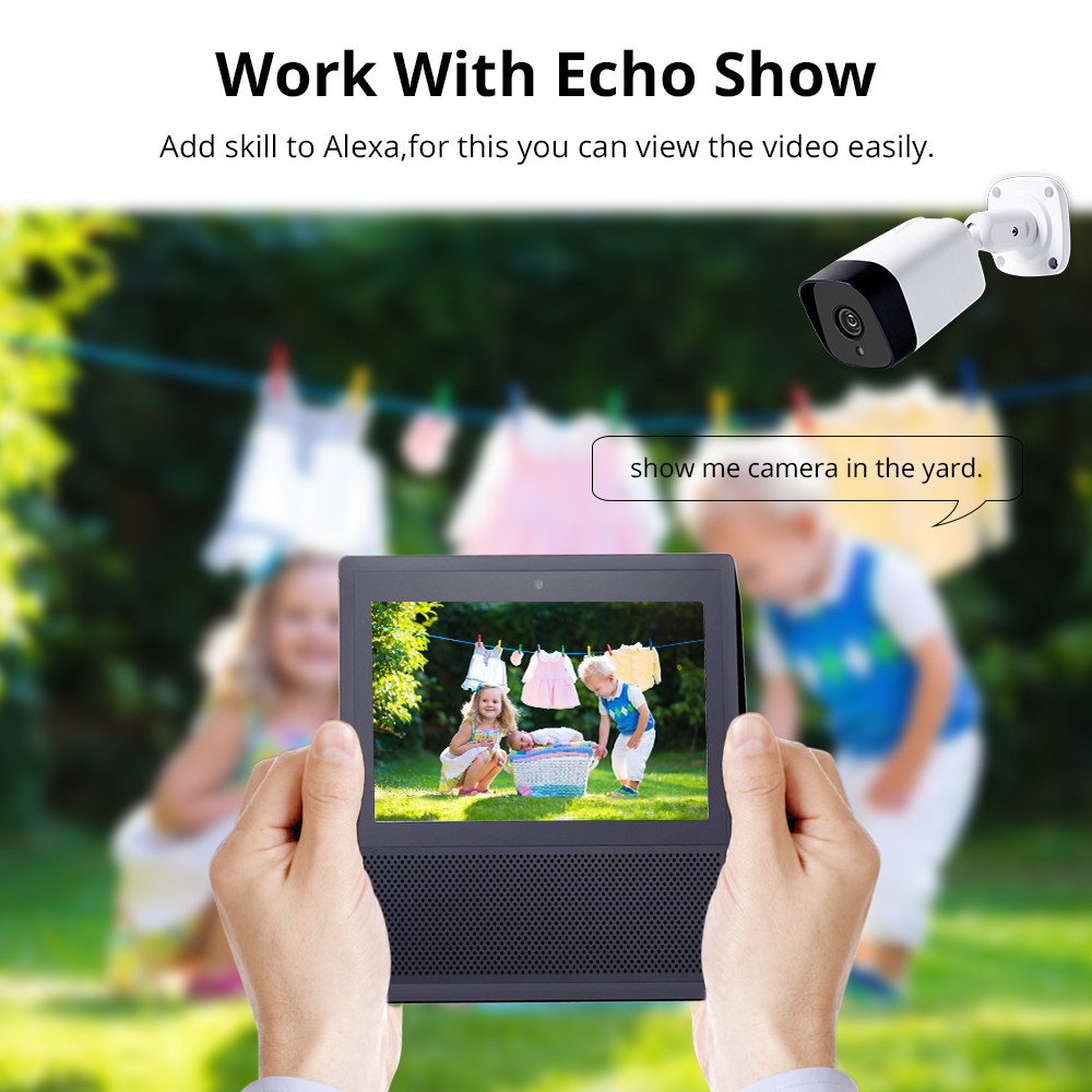 Tuya WiFi CCTV Camera Tilt Intercome Work with Alexa Echo Show Smart Home  Security Alarm