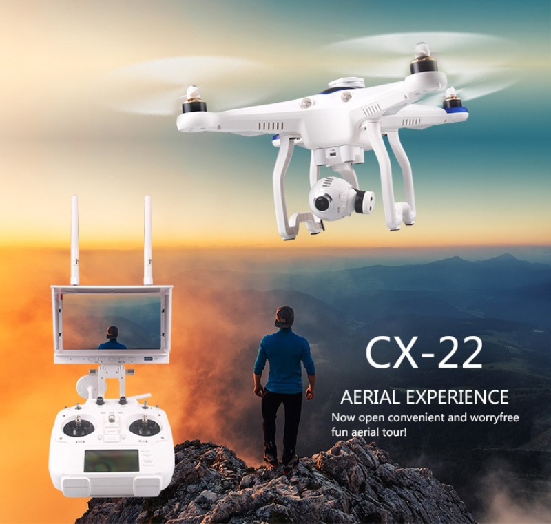 2017 new selfie hobby CX-22 RC Drones 6-axis Dual GPS Track Auto Follower 5.8G FPV RC Quadcopter with 1080P HD camera VS QR X350 free shipping cheerson cx 22 rc drones 6 axis 5 8g fpv remote control quadcopter