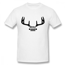 88ce6d08 For Man New T Shirt Round Neck Deer Jeep Hip Hop Homme Tee Shirt For Male