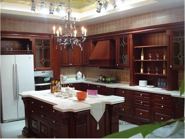 Gabinete de cocina modular de madera (LH SW038) en Gabinetes de ...