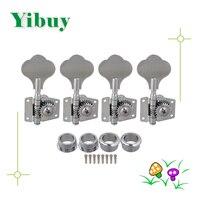 Yibuy 4R Chrome Basgitaar Machine Heads Tuners/Olifant oor knop
