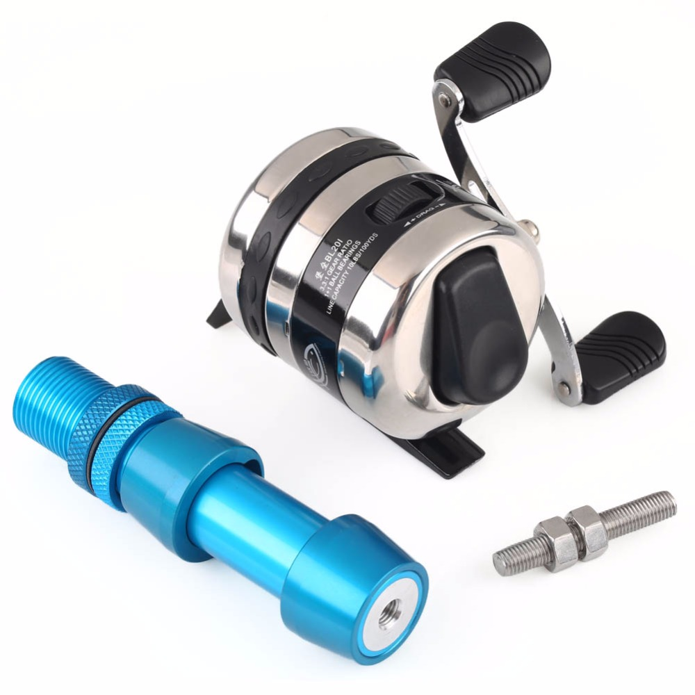Bow Reel Spincast Reel With Reel Seat Gear Ratio 3.3:1 Free shipping
