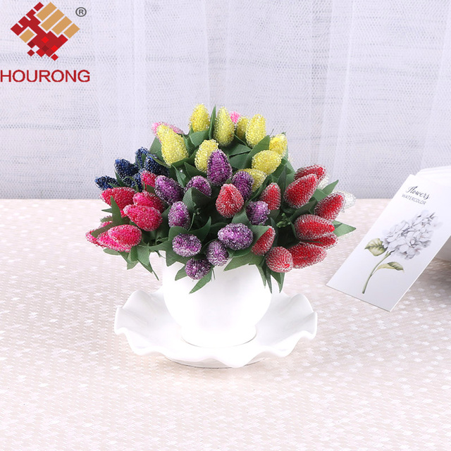 Hourong 1 bunch Artificial StrawBerry Flower Bouquet For Home Party ...