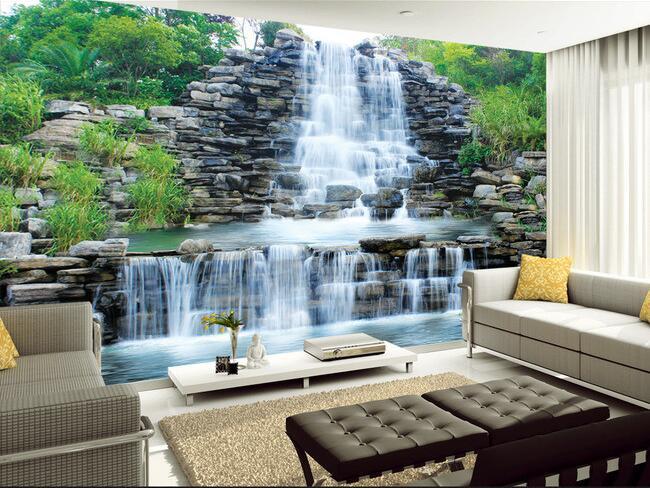 Buy 3d wallpaper custom mural non woven for Wallpaper for walls for sale