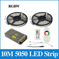 10M 5050 RGBW/RGBWW LED Strip Light IP65 Waterproof / No Waterproof 60Leds/m Flexible Light + 2.4G Controller +10A Transformer