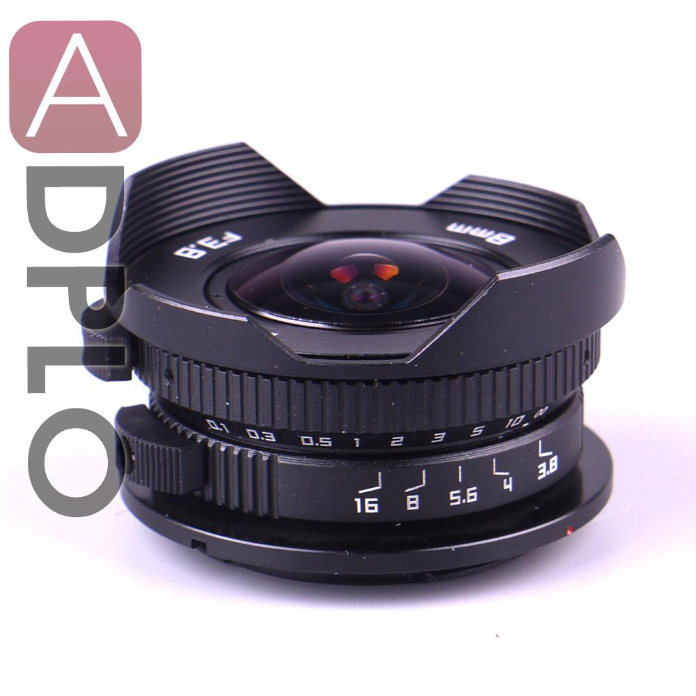 8mm F3.8 Fish-eye C mount Wide Angle Fisheye Lens 8mm Focal length F3.8 Fish eye Lens Suit For Micro Four Thirds Mount Camera